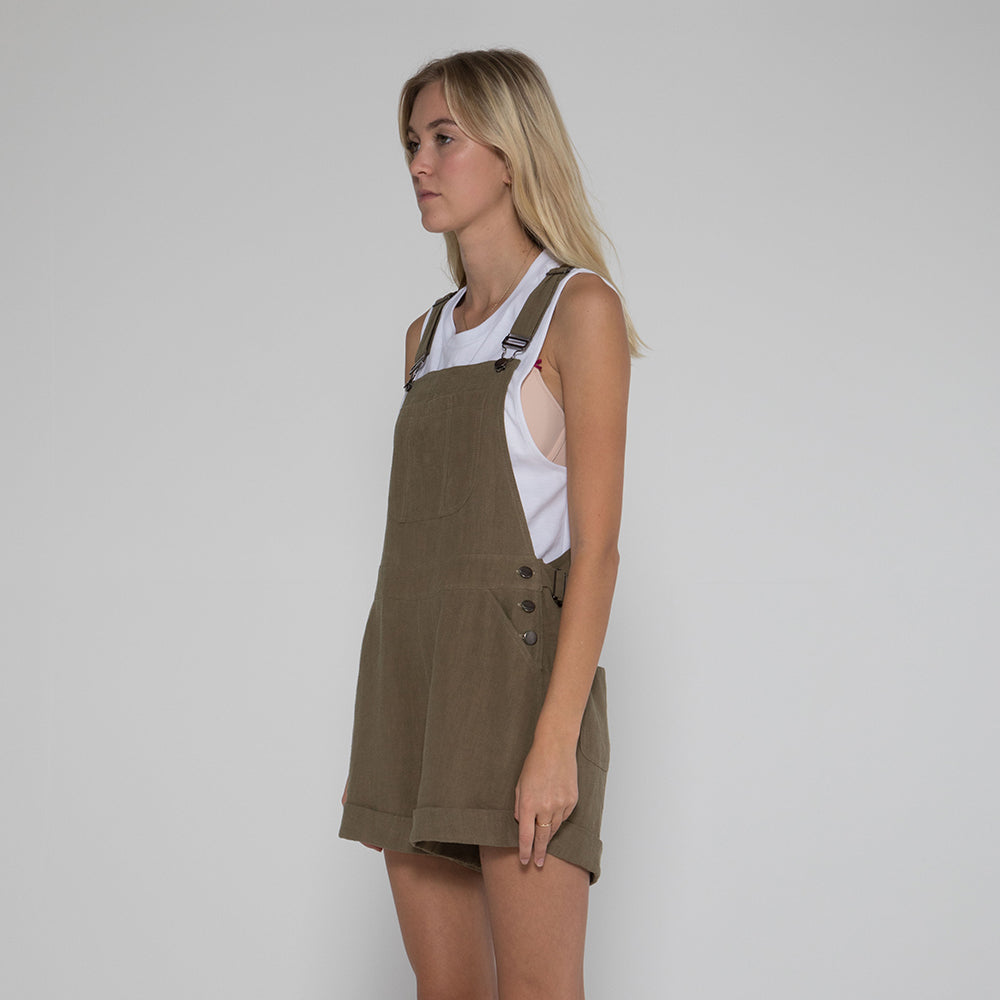Lower Cayla Overalls in Olive