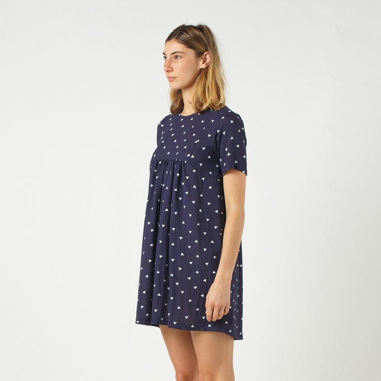 Lower Claudia Dress in Navy