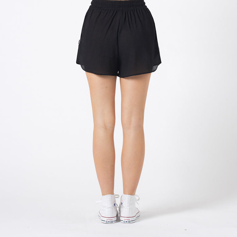Lower Crinkle Shorts in Black