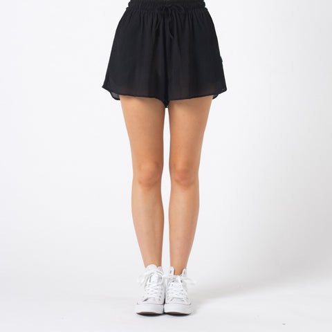 Lower Crinkle Shorts - Black