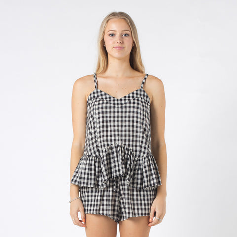 Lower Dusty Top - Gingham