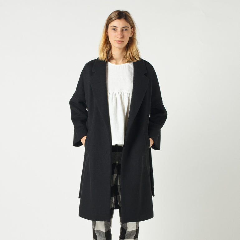 Lower Hugo Coat - Black