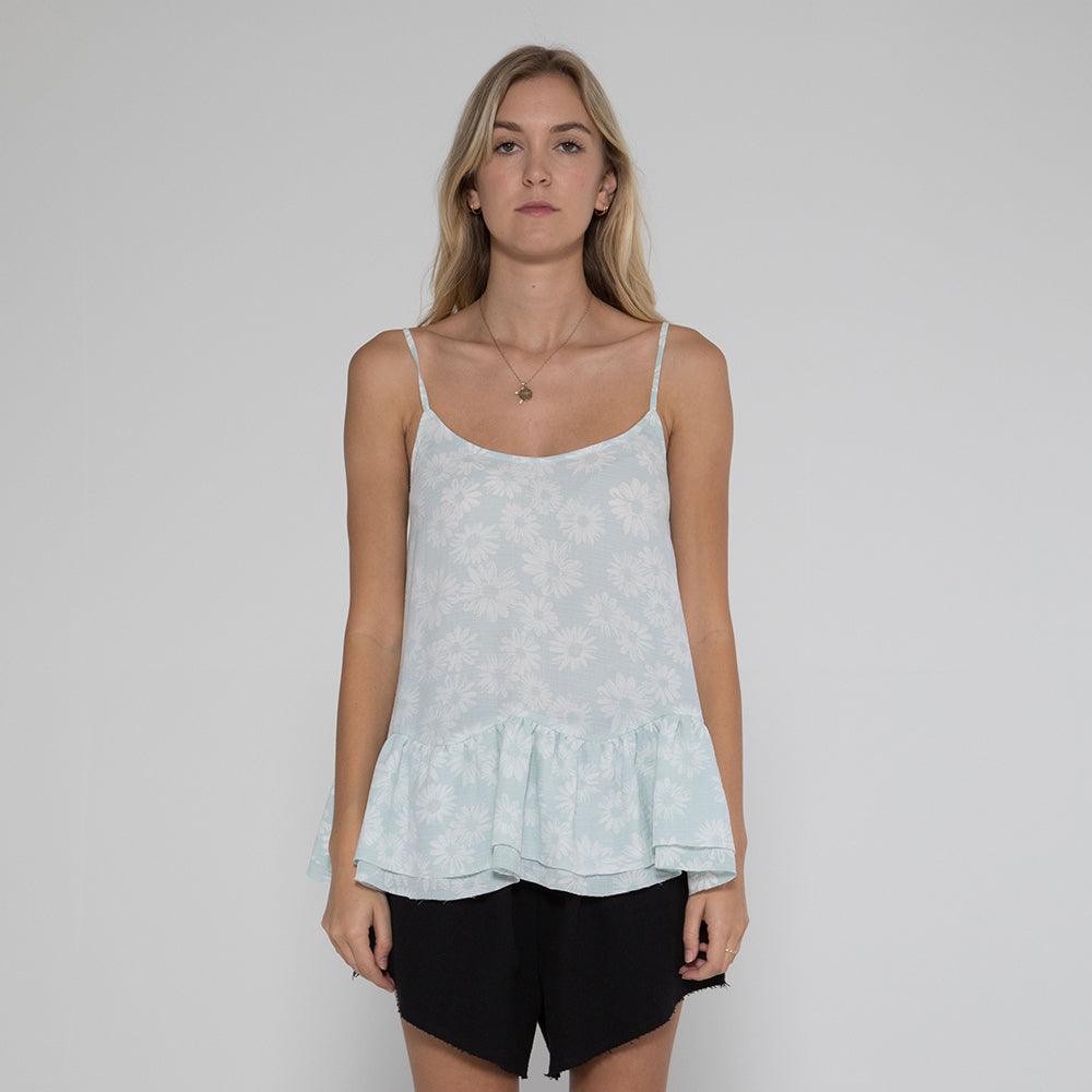 Lower Jac Top - Mint Floral