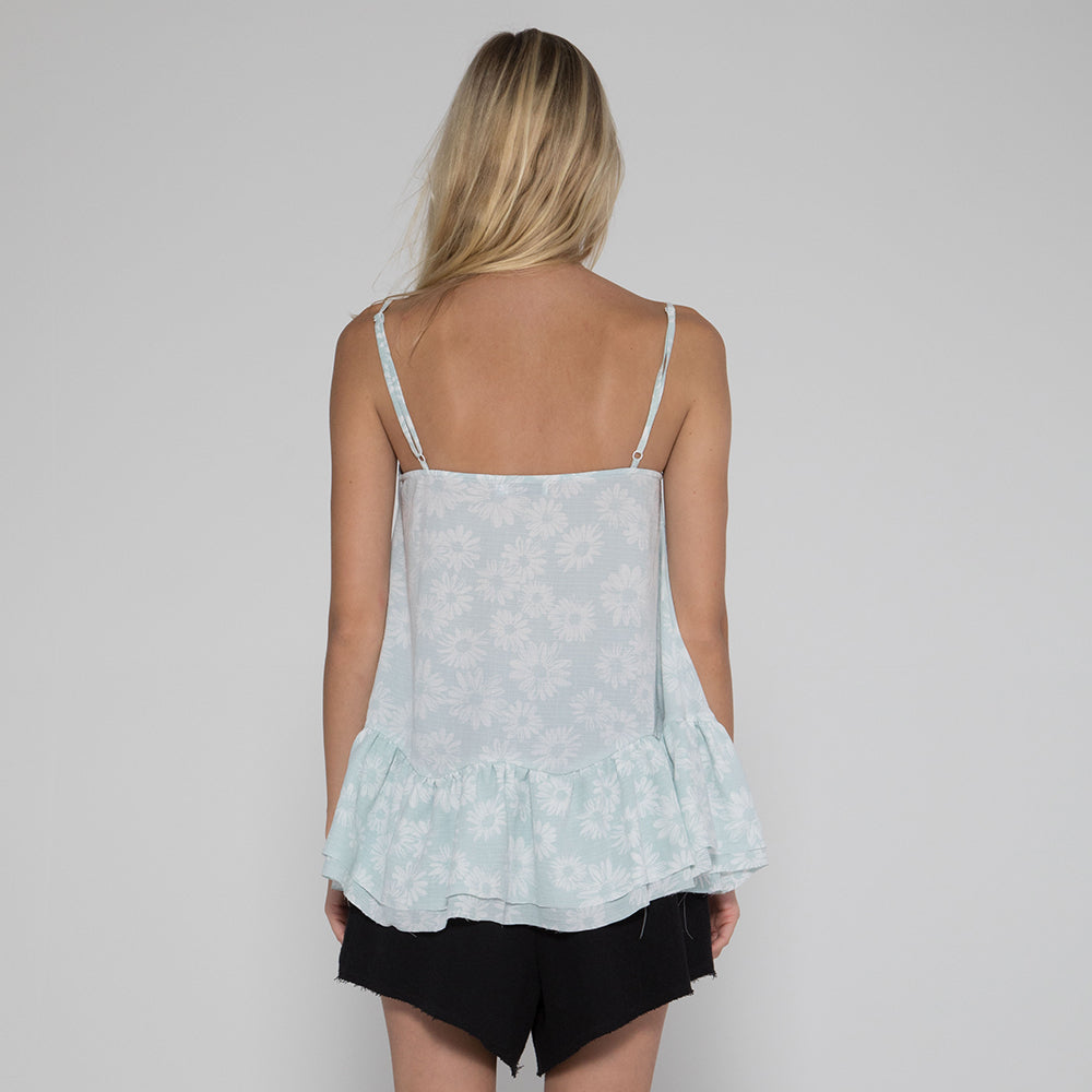 Lower Jac Top Mint Floral
