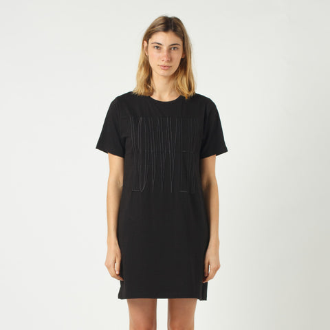 Lower Panel Tee Dress - Black