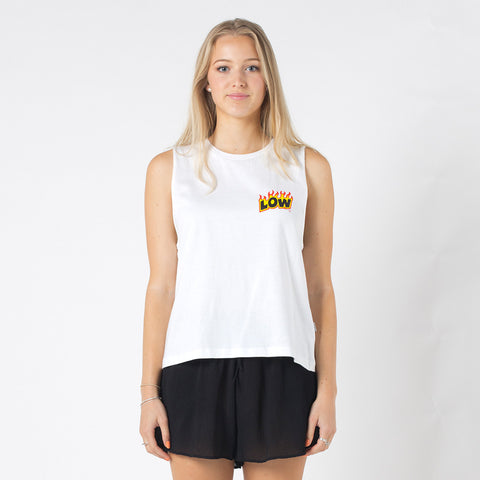 Lower Parker Tank / Flamer - White