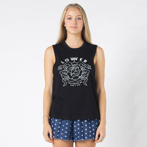 Lower Parker Tank / Rose - Black