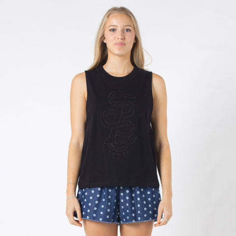 Lower Parker Tank / Snake L - Black