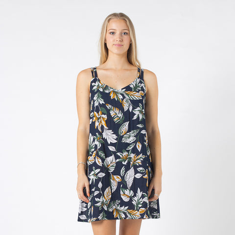 Lower Poppy Dress - Navy Floral