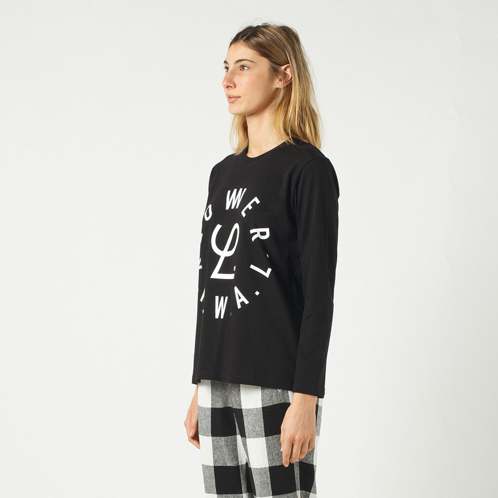 Lower Relax L/S Tee / Infinity in Black