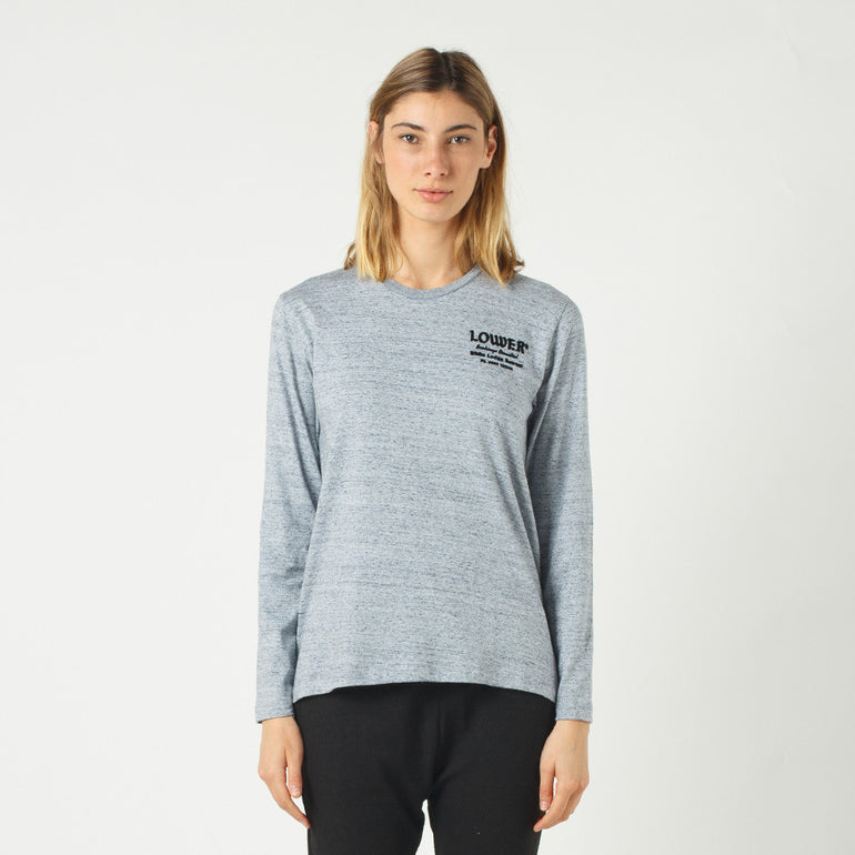 Lower Relax L/S Tee / Bookings (Flocking) - Grey