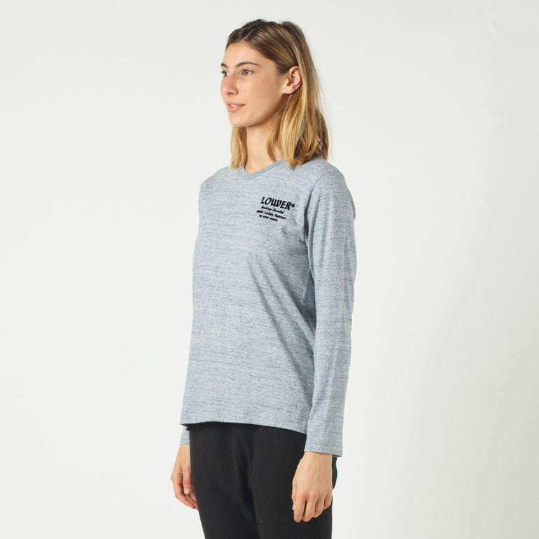 Lower Relax L/S Tee / Bookings (Flocking) in Grey