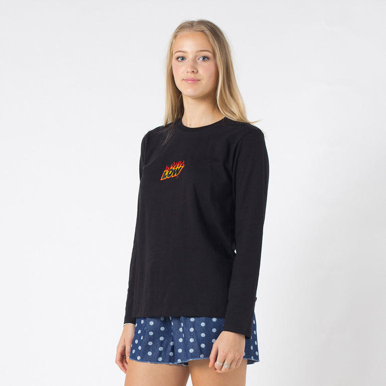 Lower Relax L/S Tee / Flamer in Black