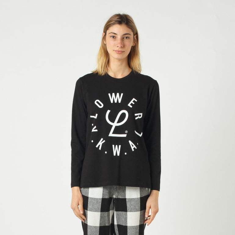 Lower Relax L/S Tee / Infinity - Black