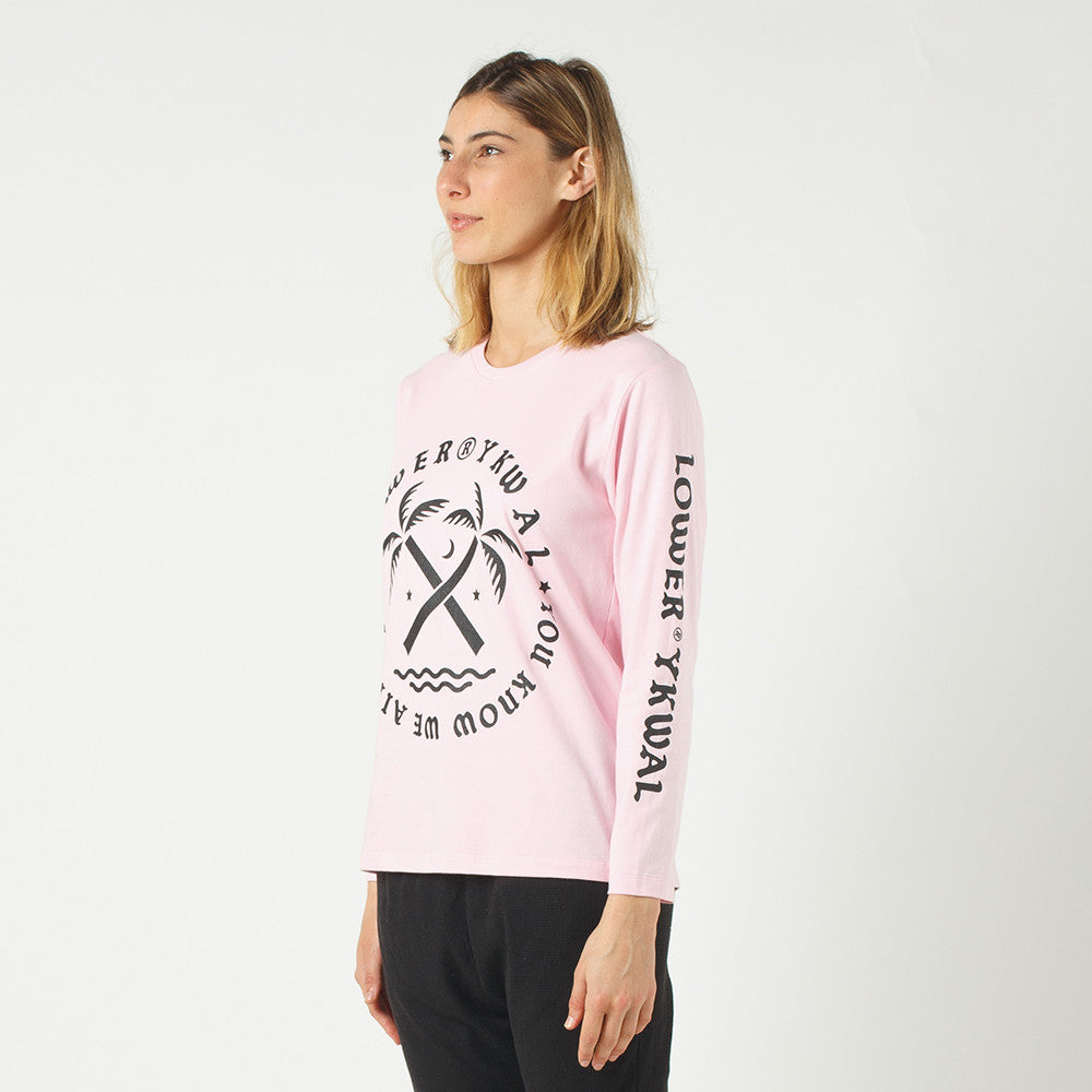 Lower Relax L/S Tee / Tropical in Pink