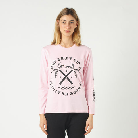 Lower Relax L/S Tee / Tropical - Pink