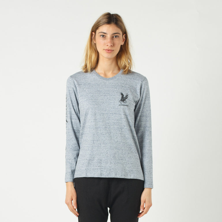 Lower Relax L/S Tee / Where The Eagles Dare - Grey