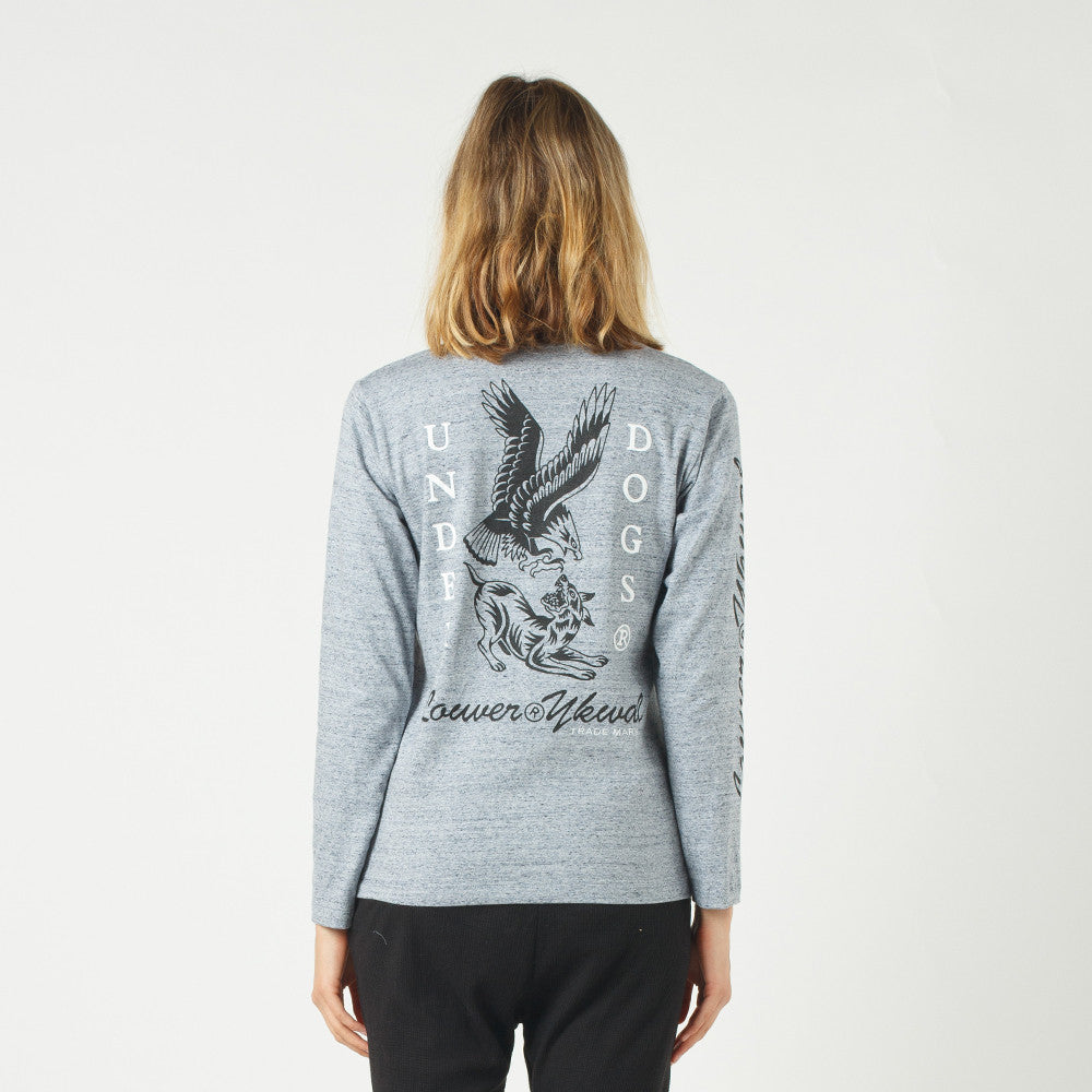 Lower Relax L/S Tee / Where The Eagles Dare Grey