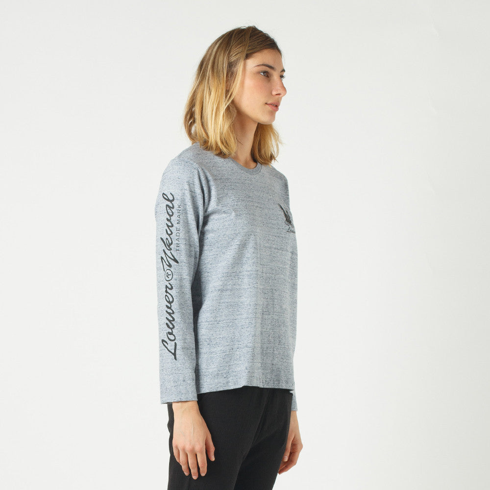 Lower Relax L/S Tee / Where The Eagles Dare in Grey