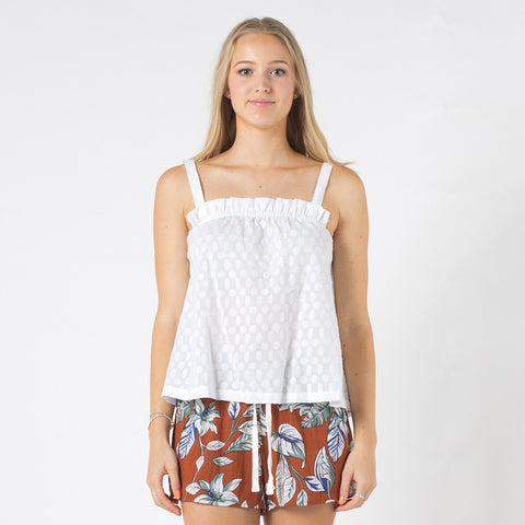 Lower Selby Top - White
