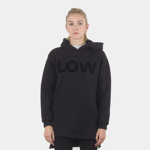 Lower Slouchy Hood / LOW (Flocking) - Black