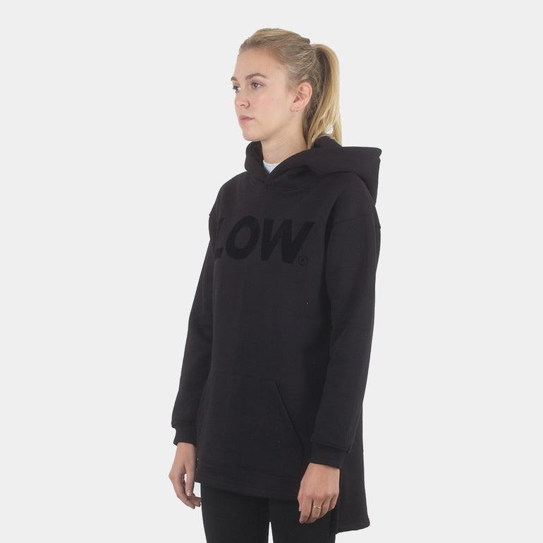 Lower Slouchy Hood / LOW (Flocking) in Black