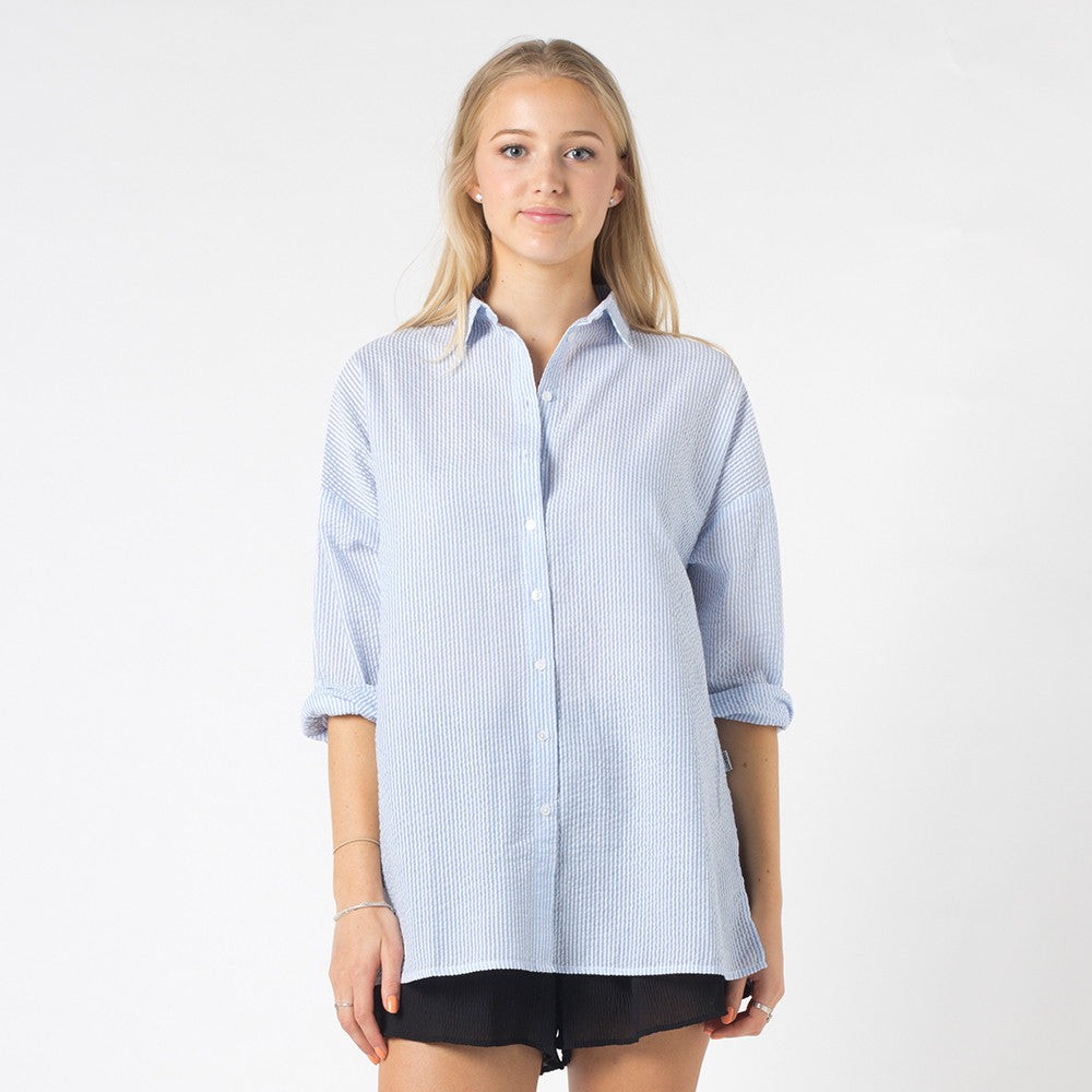 Lower Stef Shirt - Blue/White Stripe