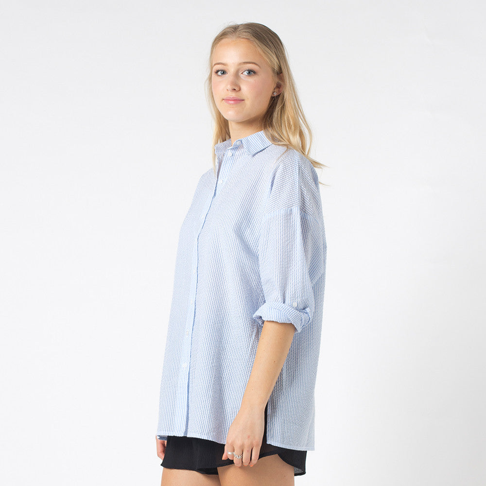 Lower Stef Shirt in Blue/White Stripe