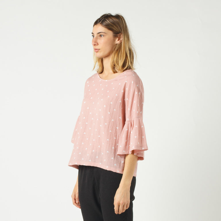 Lower Stevie Top in Pink