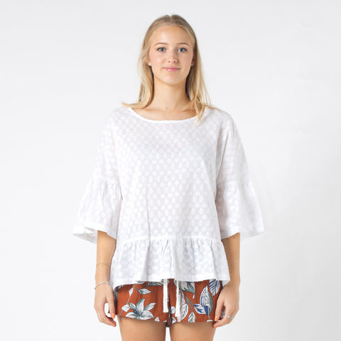 Lower Tabatha Top - White