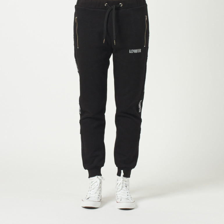 Lower Troop Trackie / Repeat - Black