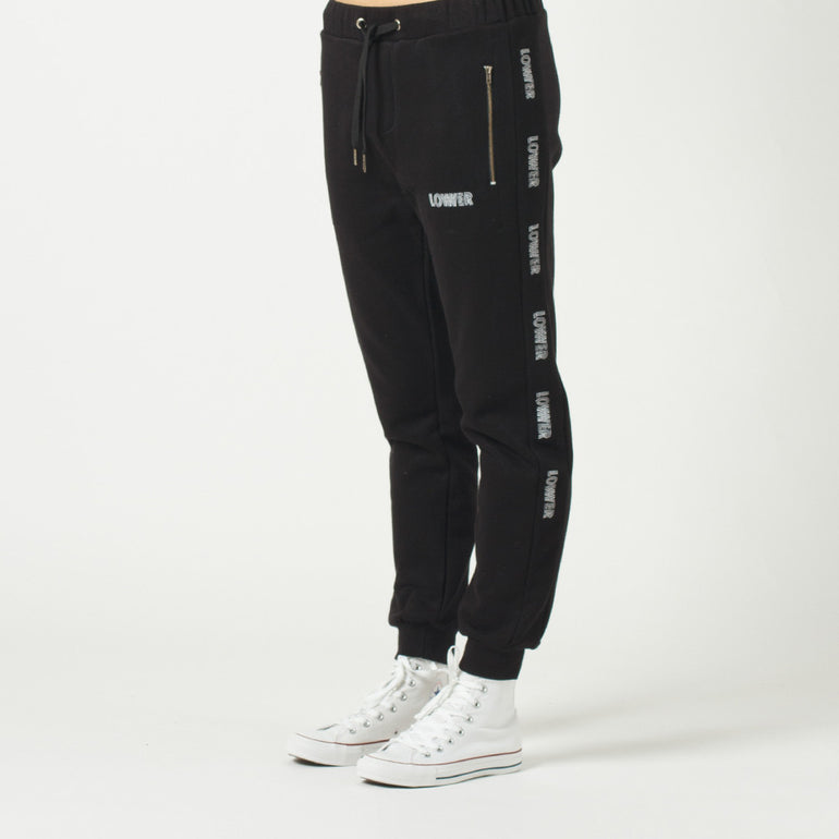 Lower Troop Trackie / Repeat in Black