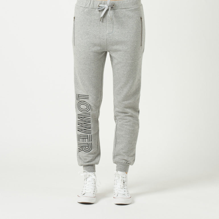 Lower Troop Trackie / Licorice - Grey Marle