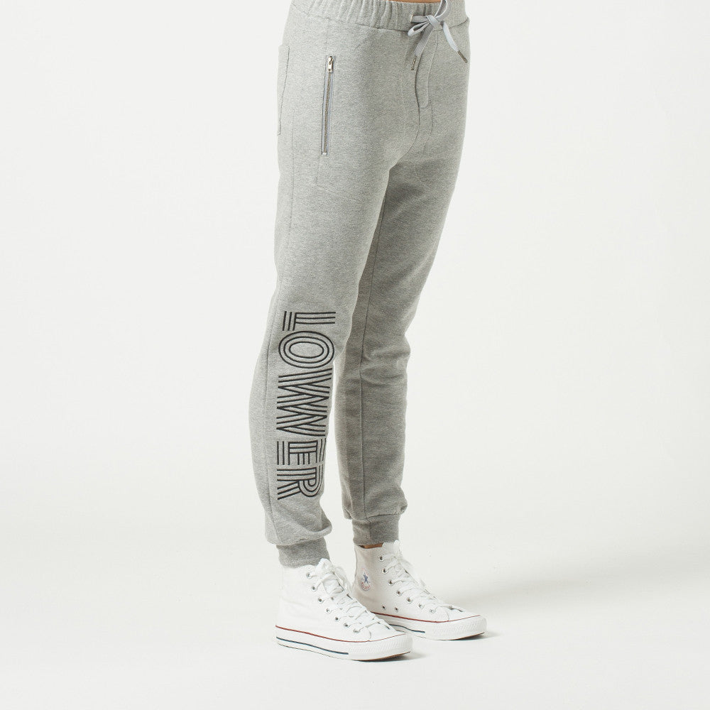Lower Troop Trackie / Licorice in Grey Marle
