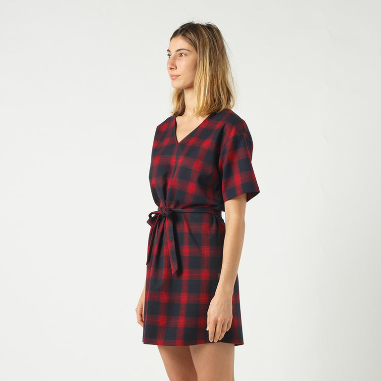 Lower Vida Dress in Check