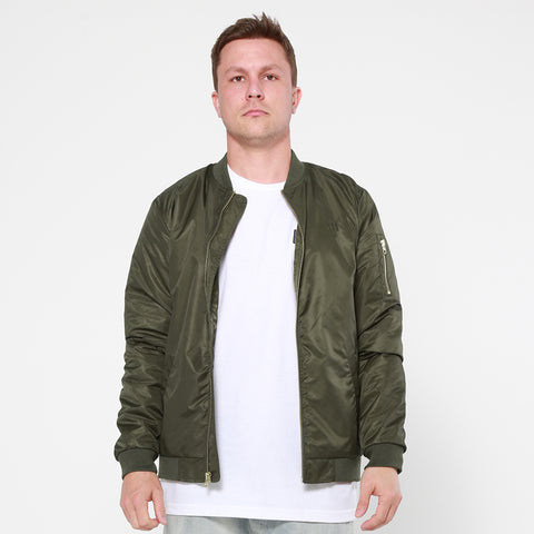 Lower Bomber Jacket / Triple Double Logo - Green