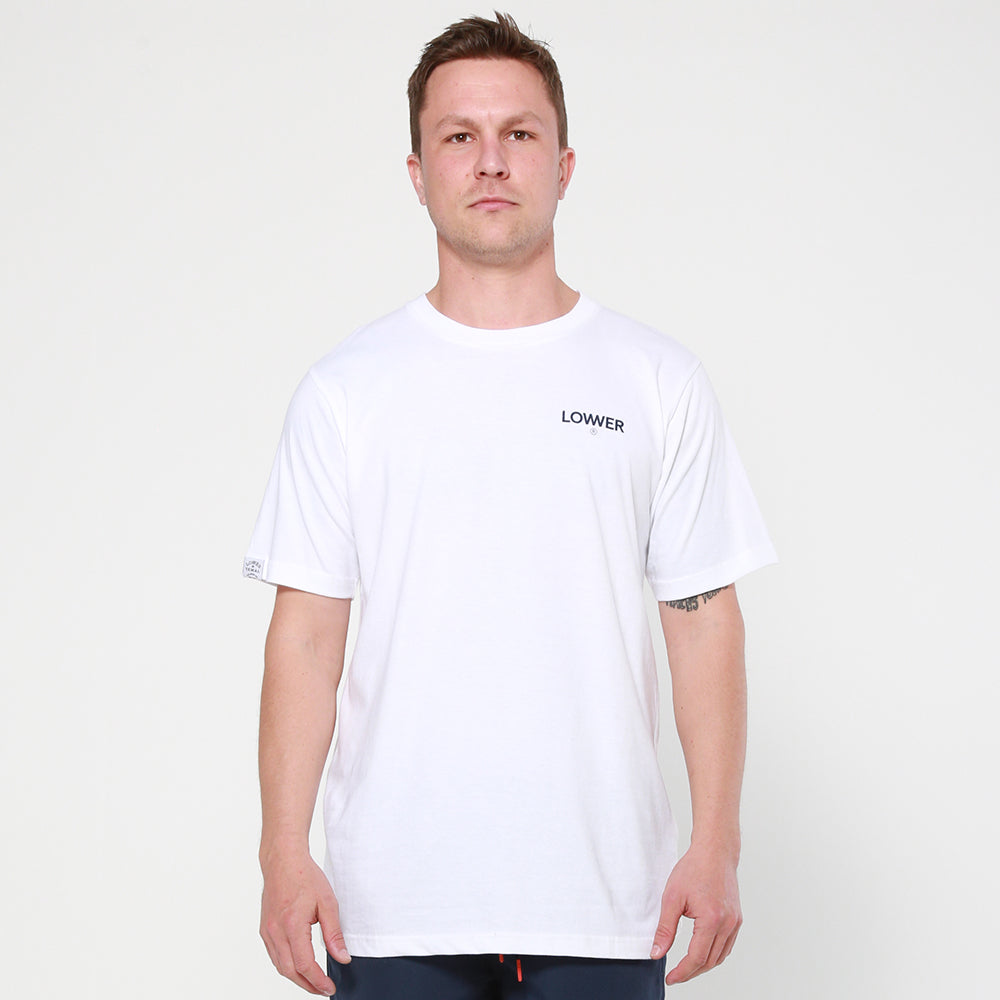 Lower QRS Tee / Logo - White