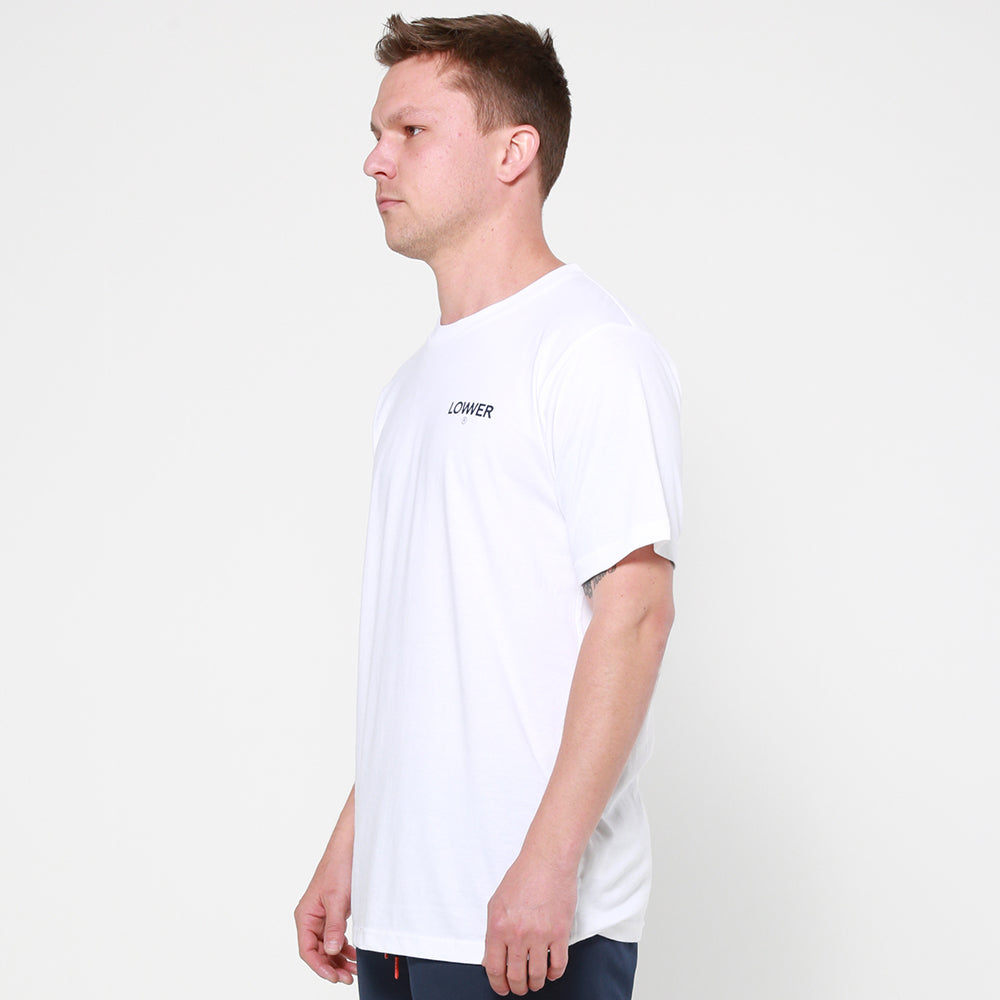 Lower QRS Tee / Logo in White