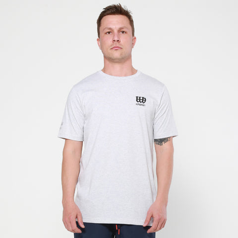 Lower QRS Tee / OE Triple Double - Silver Marle