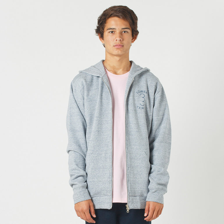 Lower Zip Hood / Sportif - Grey Marle