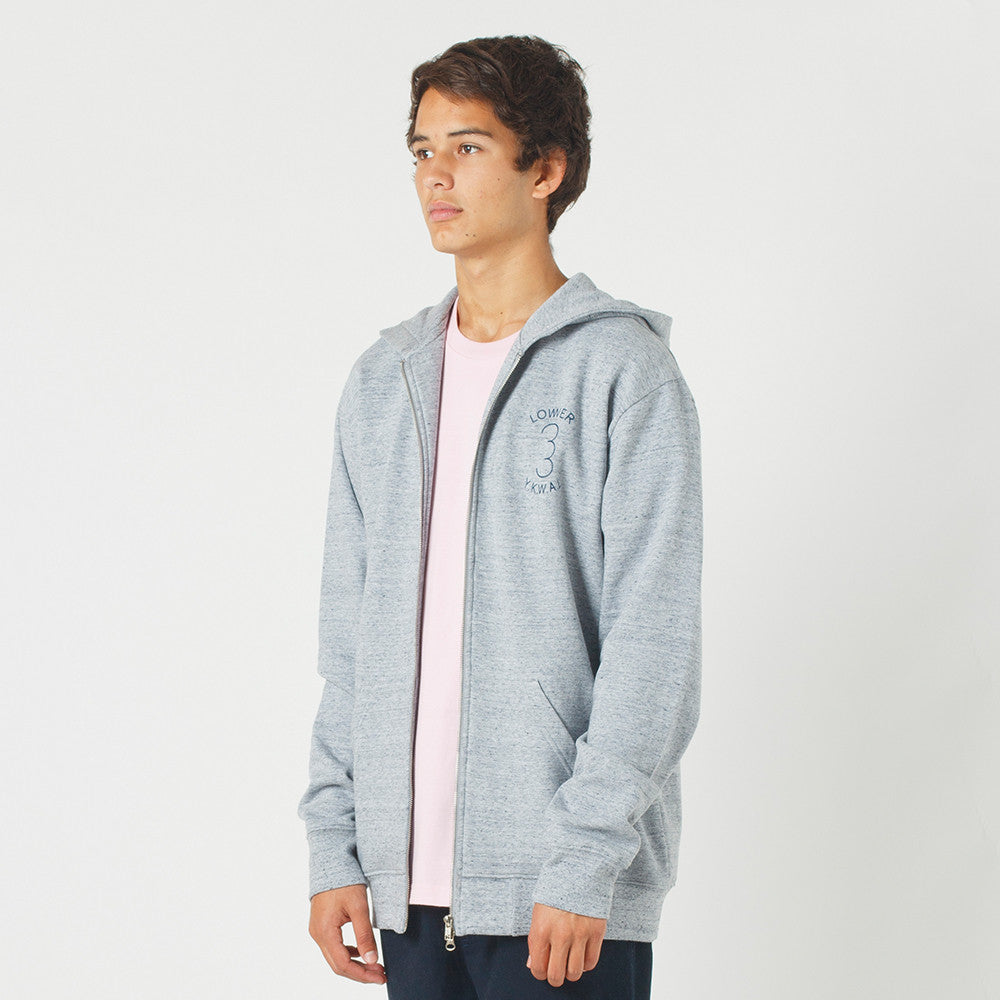 Lower Zip Hood / Sportif in Grey Marle