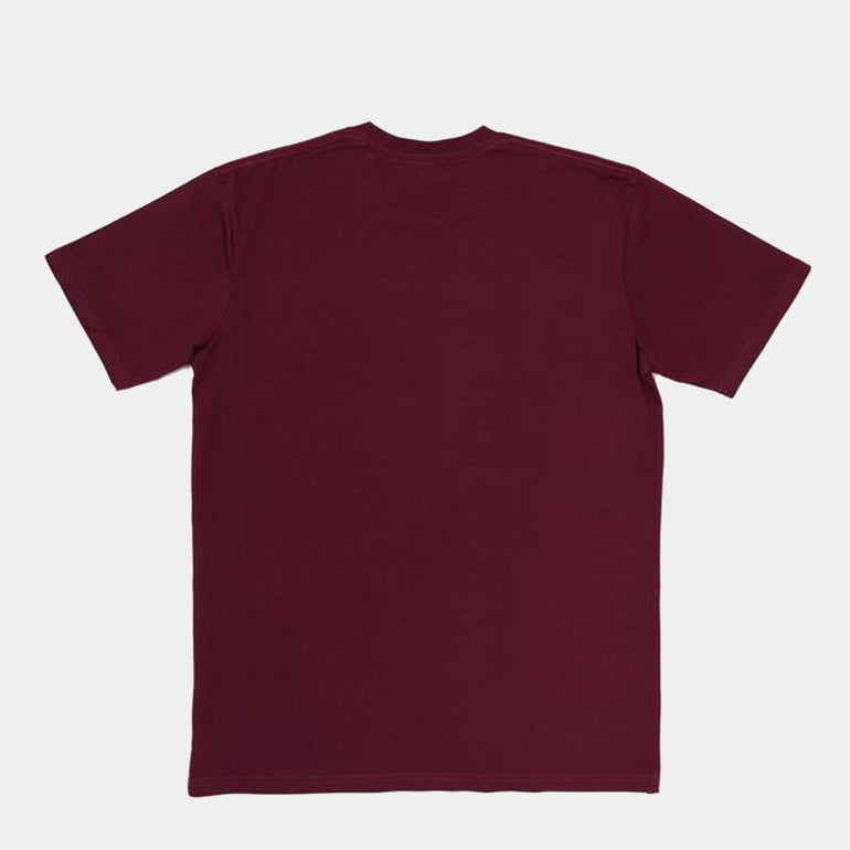 Moreporks Felt Applique Tee in Burgundy