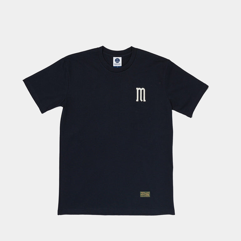 Moreporks Felt Applique Tee - Navy