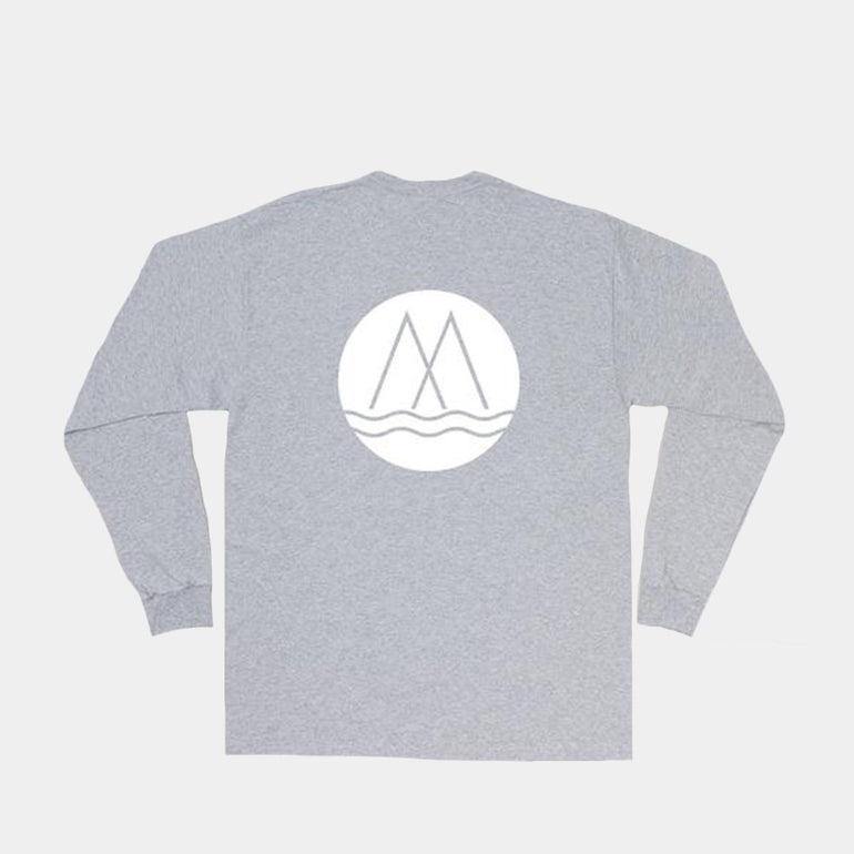 Moreporks Full Logo L/S Tee in Grey Marle