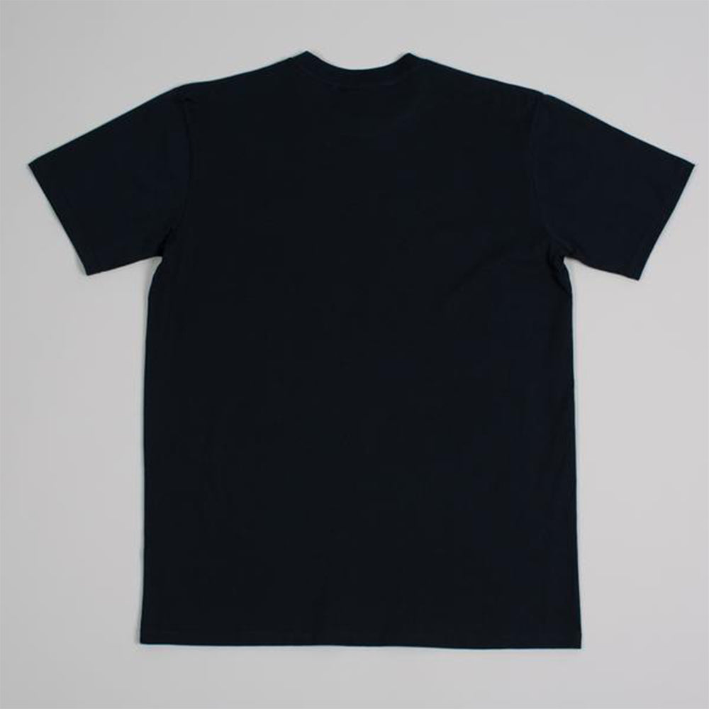 Moreporks NO.6 Classic Logo Printed Tee in Navy