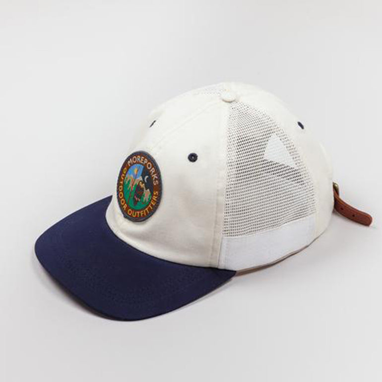 Moreporks Outdoor Sports 6 Panel Cap - White