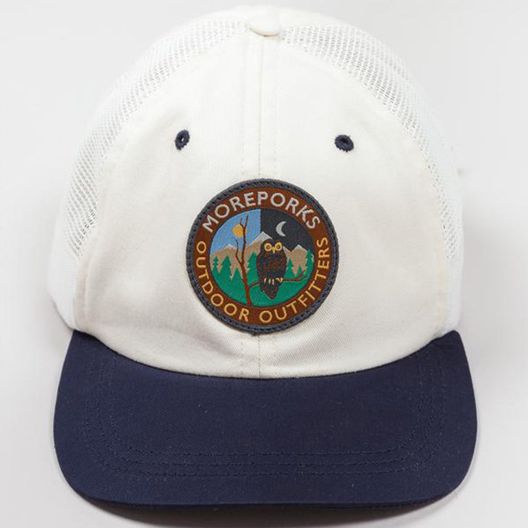 Moreporks Outdoor Sports 6 Panel Cap in White