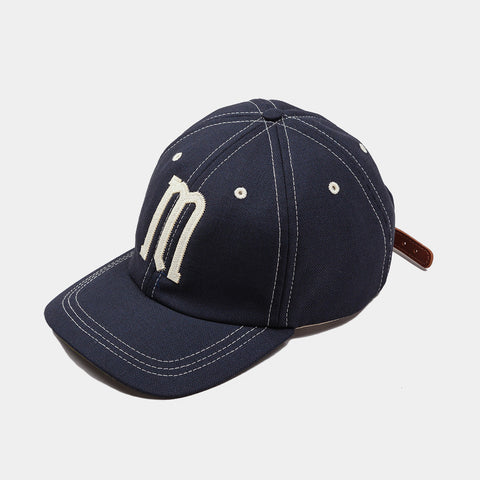 Moreporks Wool Blend Felt Applique Cap - Navy