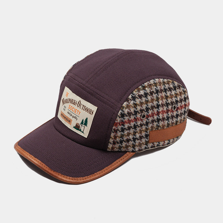 Moreporks Wool Blend Felt Applique Cap - Brown
