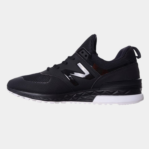 New Balance Mens 574 Sport - Black/White